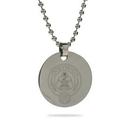 Hunger Games Inspired District 12 Engraved Tag Pendant