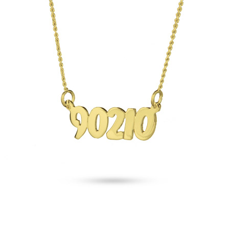 Gold Vermeil Custom Zip Code Necklace