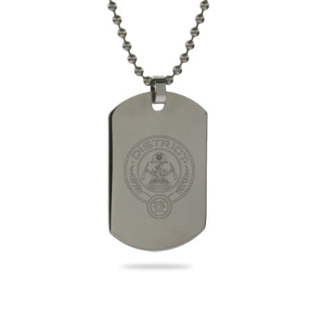 Hunger Games Inspired District 12 Dog Tag