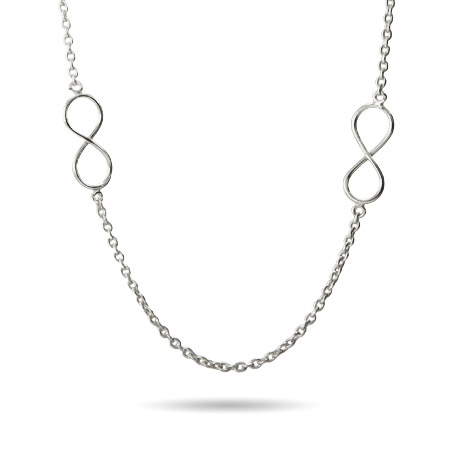 Sterling Silver Infinity Links Necklace