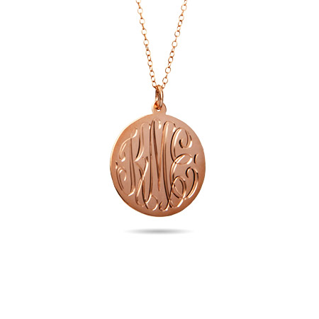 Rose Gold Vermeil Small Monogram Pendant