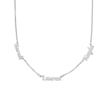 Sterling Silver Custom 3 Name Necklace