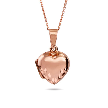 Rose Gold Vermeil Engravable Heart Locket