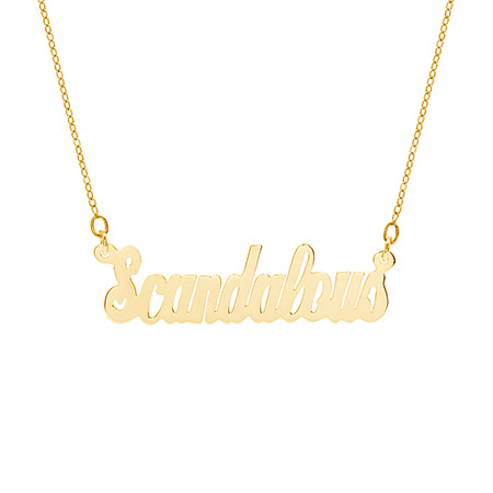 Gold Vermeil Scandalous Nameplate Necklace