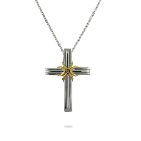 Tiffany Style Sterling Silver Cross Pendant