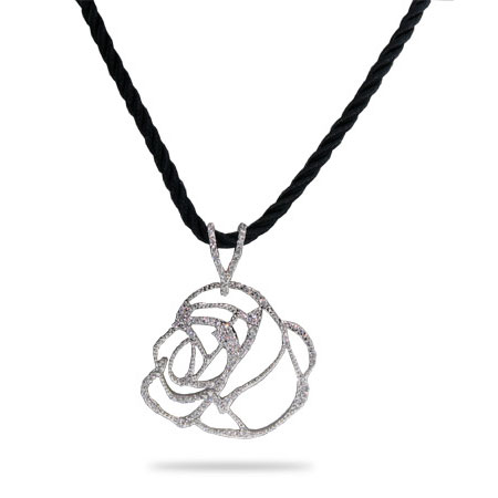 Julia Rose Pave Set CZ Pendant
