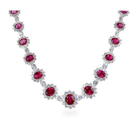 The Hollywood Red Carpet Ruby CZ Necklace