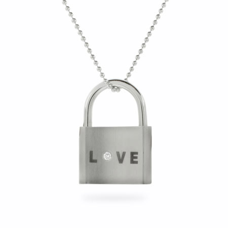 Love Stainless Steel Lock Pendant