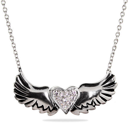 Wings of Desire Sterling Silver Pendant
