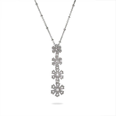 Sterling Silver and CZ Journey Snowflake Pendant