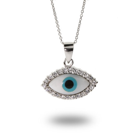 Sterling Silver Evil Eye Protection Pendant