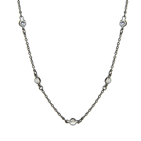 Tiffany Inspired Sterling Silver Black Rhodium CZs By the Yard