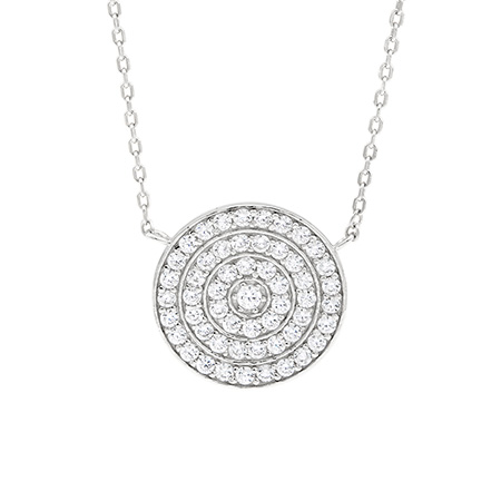 Kate Middleton Inspired Round Pave CZ Pendant