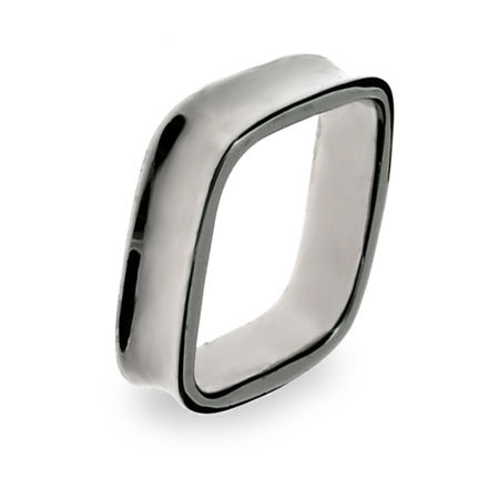 Tiffany Inspired Sterling Silver 1837 Cushion Ring