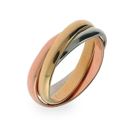 Lindsay's Three Tone Triple Roll Ring