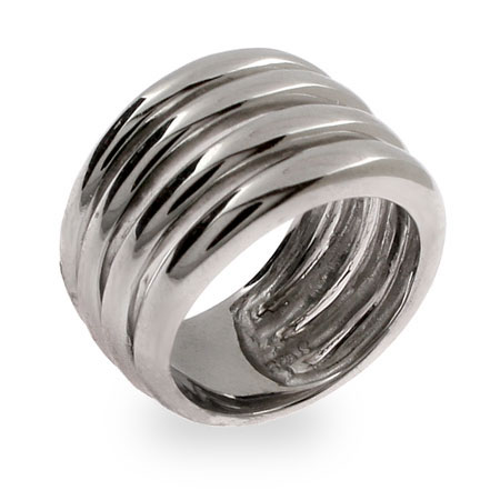 Bold Four Band Sterling Silver Ring