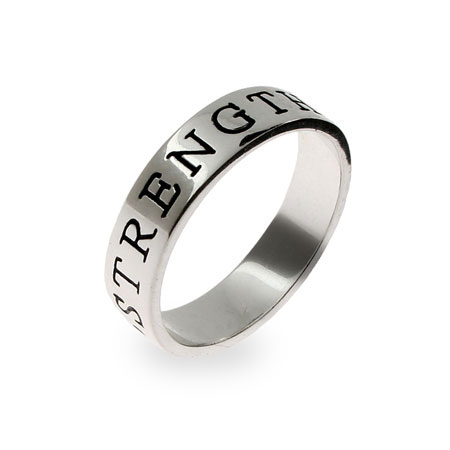 Strength Sterling Silver Friendship Ring