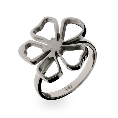 Tiffany Inspired Sterling Silver Flower Ring