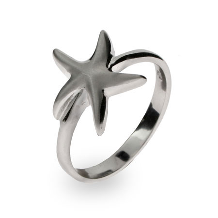 Tiffany Inspired Sterling Silver Starfish Ring
