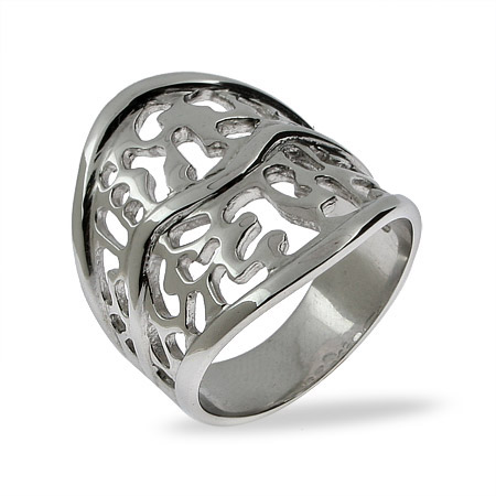 Jenna's Filigree Style Sterling Silver Ring
