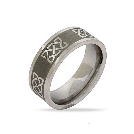 Stainless Steel Celtic Knot Band
