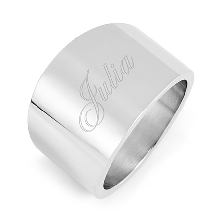 Engravable Stainless Steel Cigar Band