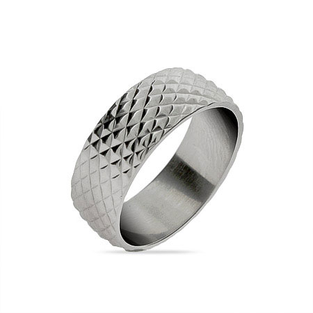 Diamond Cut Men's Stainless Steel Band