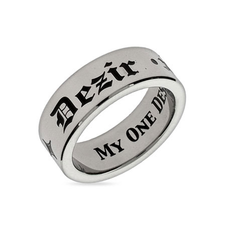 My One Desire Stainless Steel Poesy Ring