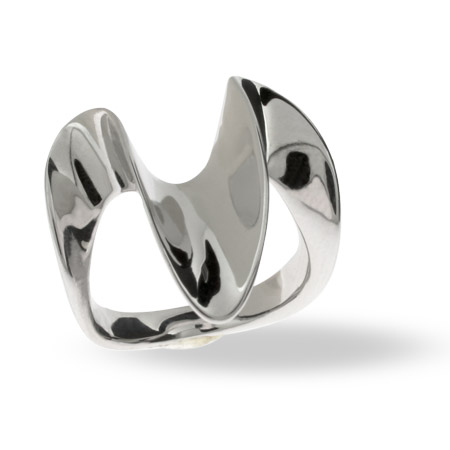 The Sterling Silver Big Wave Ring