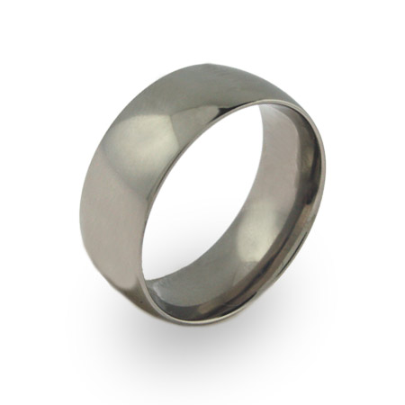 Mens Engravable 9mm Wide Titanium Band