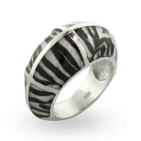 EvesAddiction.com Zebra Enamel Ring - Clearance Final Sale at Sears.com