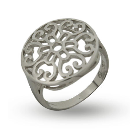 EvesAddiction.com Silver Round Filigree Ring - Clearance Final Sale at Sears.com