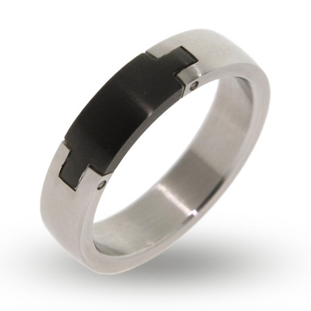Engravable Stainless Steel Puzzle Signet Ring