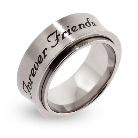 Forever Friends Engravable Spinner Ring