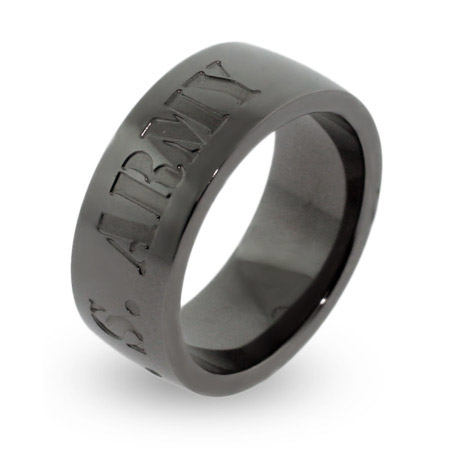 US Army Engravable Military Ring
