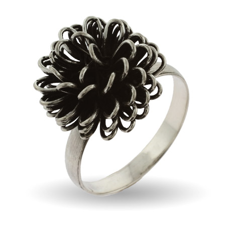 Sterling Silver Pinecone Ring
