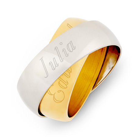 Golden Shimmer Solar Eclipse Engravable Secret Message Band
