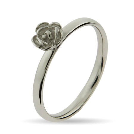 Stackable Reflections Silver Rose Stackable Ring