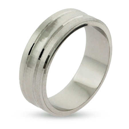 Eternity By Eve Silver Contemporary Sterling Silver Wedding Band