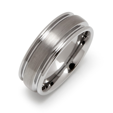 Brushed Finish Engravable Tungsten Carbide Band
