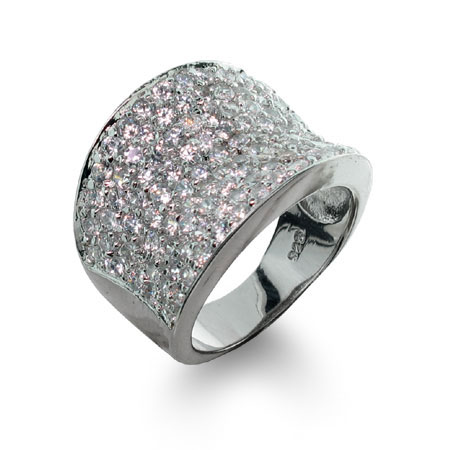 Raymond G. Inspired Diamond Cubic Zirconia Pave Glam Ring