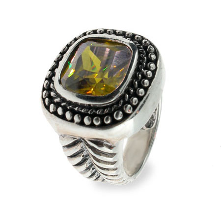 EvesAddiction.com Square Olive Cubic Zirconia Ring - Clearance Final Sale at Sears.com