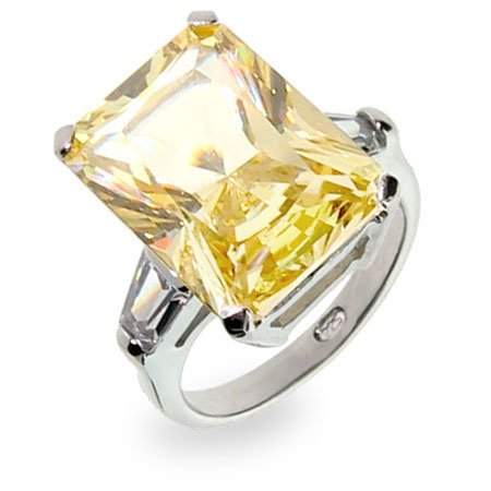 inspired canary cz engagement ring