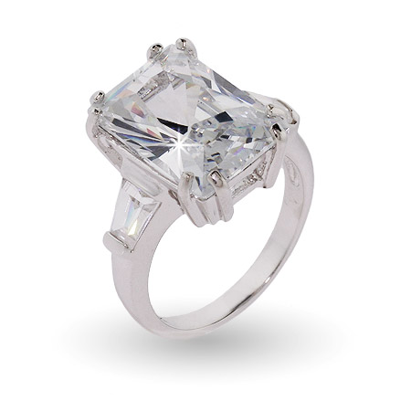Paris Hilton Replica Diamond CZ Engagement Ring