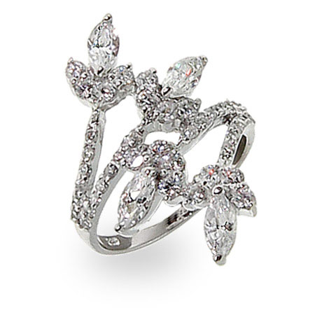 Emma's Marquise Flower Wrap Ring