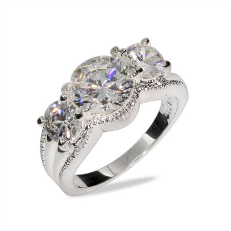 Ashley's Brilliant Cut CZ Engagement Ring