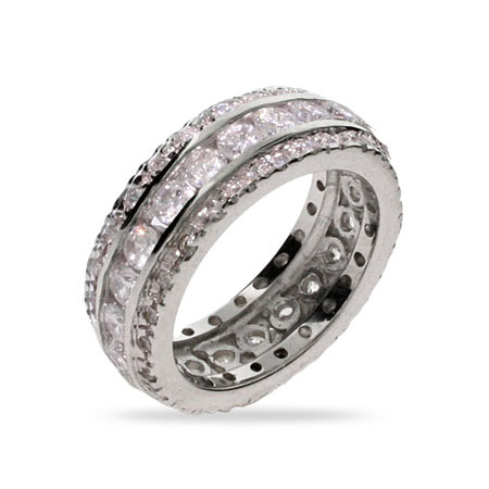 Eva Longoria Replica CZ Wedding Band