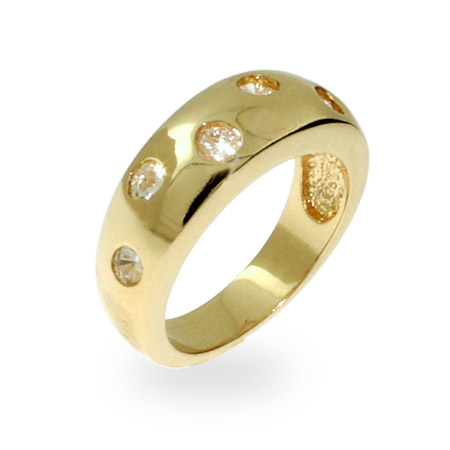 Tiffany Inspired Gold Vermeil Etoile Ring