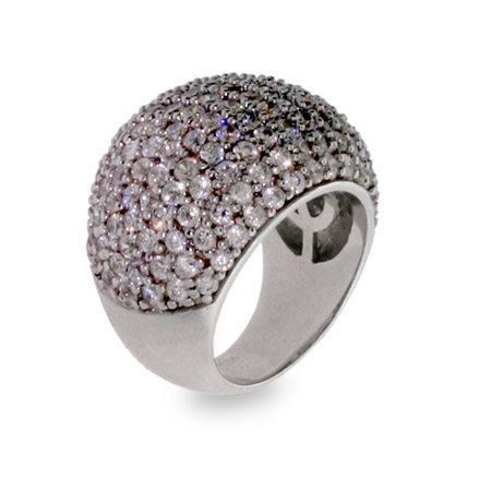 Raymond G. Inspired Glamorous Pave CZ Cocktail Ring