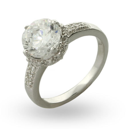 Fergie's Replica Brilliant Cut Crown Set CZ Engagement Ring